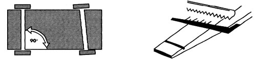 Axle grooves should be parallel